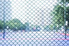 public chain link fence